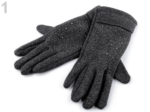 9307ffc1e21 Dámské úpletové rukavice s krajkou