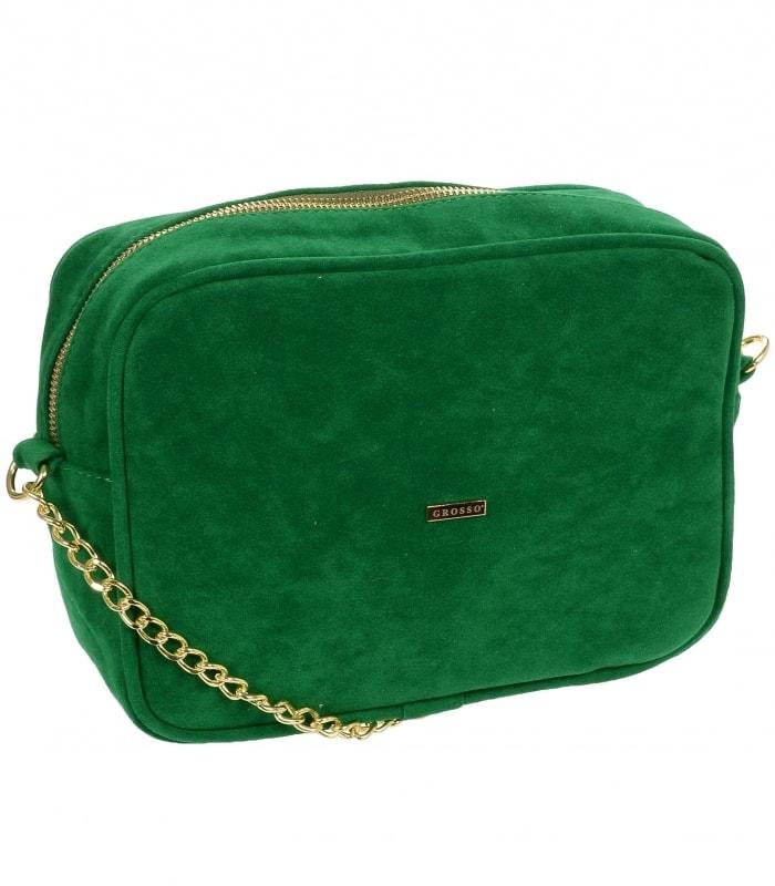 Zelená semišová dámská crossbody kabelka M288 ... 42e3c204c02