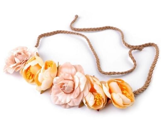 Pružná čelenka do vlasů s růžemi  767713a487