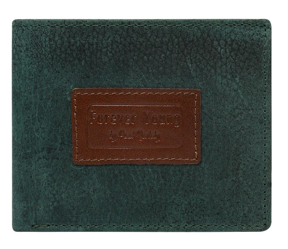 2c56253d1a Zelená pánská kožená peněženka v krabičce RFID Forever Young ...
