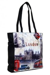 Dámská kabelka na rameno s motivem Londýna 60694 černá 09315b8485f