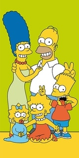 Osuška Simpsons Family green 70/140