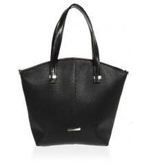 Velká dámská shopper kabelka černá s červeným lemem S618 c709f5e5770