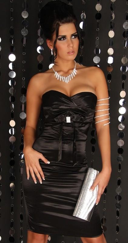 Queen O.F. Černé koktejlové šaty - dle obrázku - 34(XS)