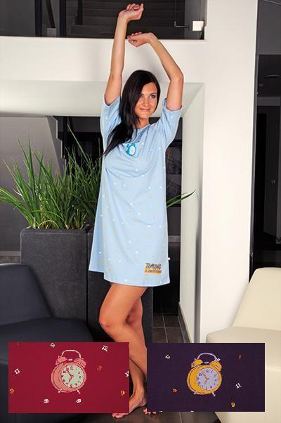Andrie Dámská noční košile PS 9166 - sv. modrá - S