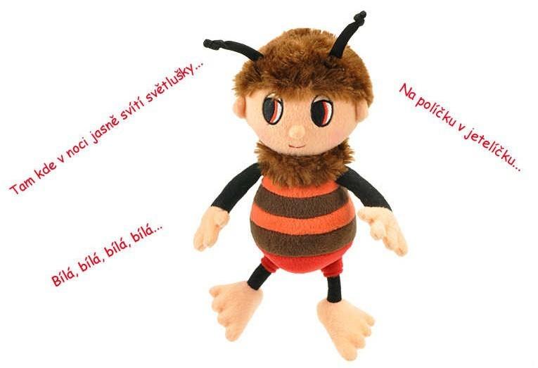 _Ostatní 1_ Příběhy Včelích medvídků plyšový Brumda 26 cm zpívající - dle obrázku