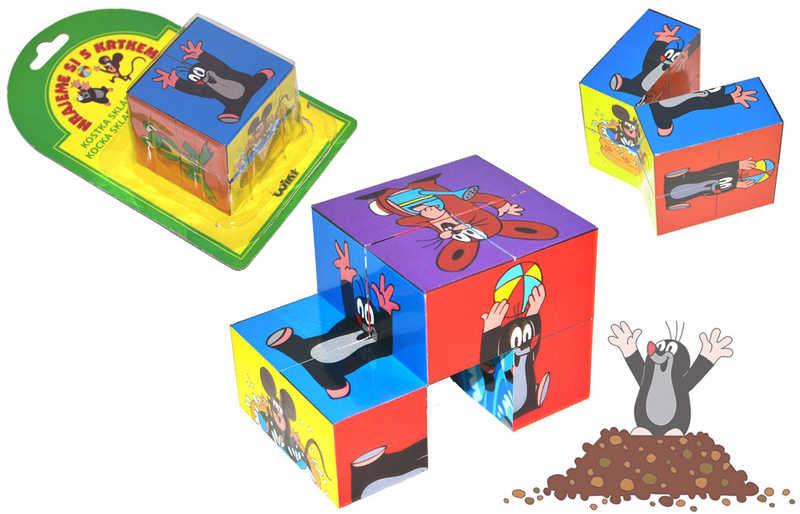 Mix hračky KRTEK Kostka skládací obrázky KRTEČEK