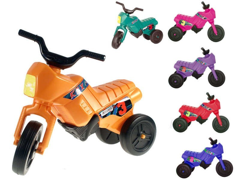 Mix hračky MAD Odrážedlo / odstrkovadlo ENDURO malé - oranžová