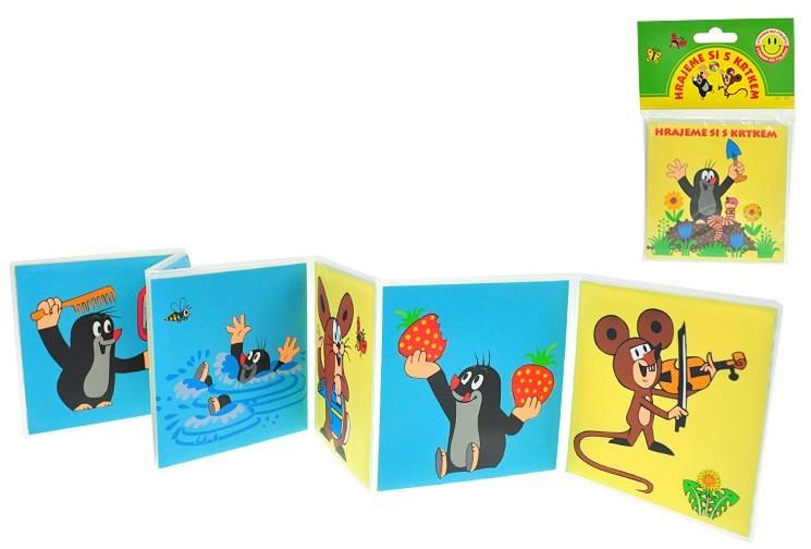 Mix hračky Knížka Krtek (krteček) rozkládací omyvatelná pro děti