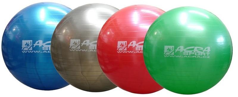 ACRA Míč gymnastický 75 cm na cvičení - červená