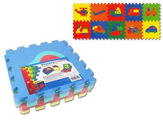Koberec (pěnové puzzle) dopravní prostředky - dle obrázku