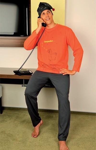 Andrie Pánské pyžamo PS 9191 - oranžová - L