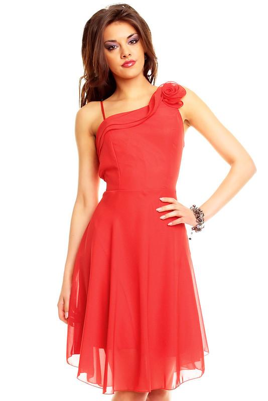 Queen O.F. Červené společenské šaty hs-sa262re - dle obrázku - Uni(S-L)