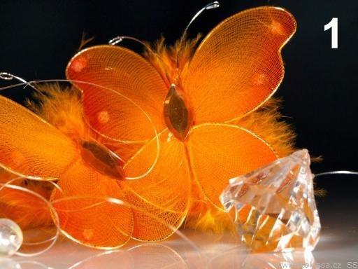 Stoklasa Girlanda závěs s motýlky 170cm (1 ks) - 1 oranžová