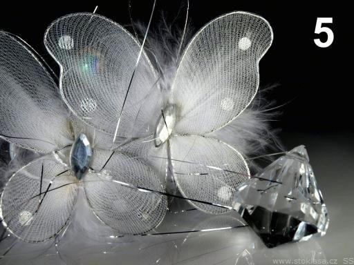 Stoklasa Girlanda závěs s motýlky 170cm (1 ks) - 5 bílá