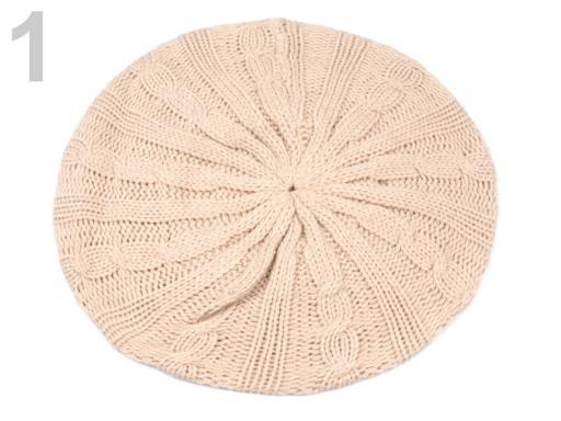 Stoklasa Baret pletený KATRIN (1 ks) - 1 Summer Melon