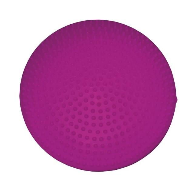 Spokey Fitseat masážní balanční podložka průměr 33 cm - vínová - 33 cm