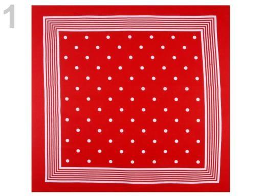 Stoklasa Bavlněný šátek s puntíky Etex 70x70 cm - 1 červená