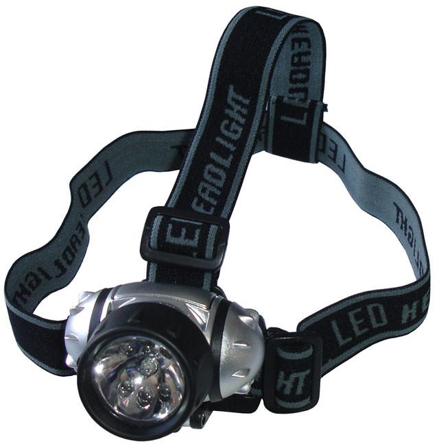 Acra Čelová svítilna - čelovka 7 LED