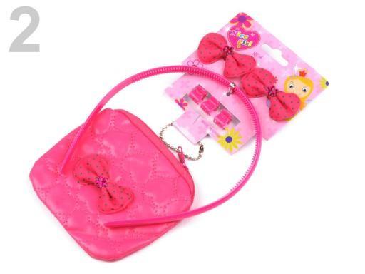 Stoklasa Dětská sada ozdoby do vlasů, peněženka - 2 růžová malinová