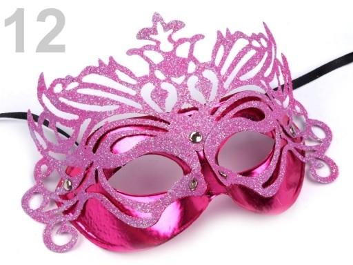 Stoklasa Karnevalová maska - 12 růžová neon
