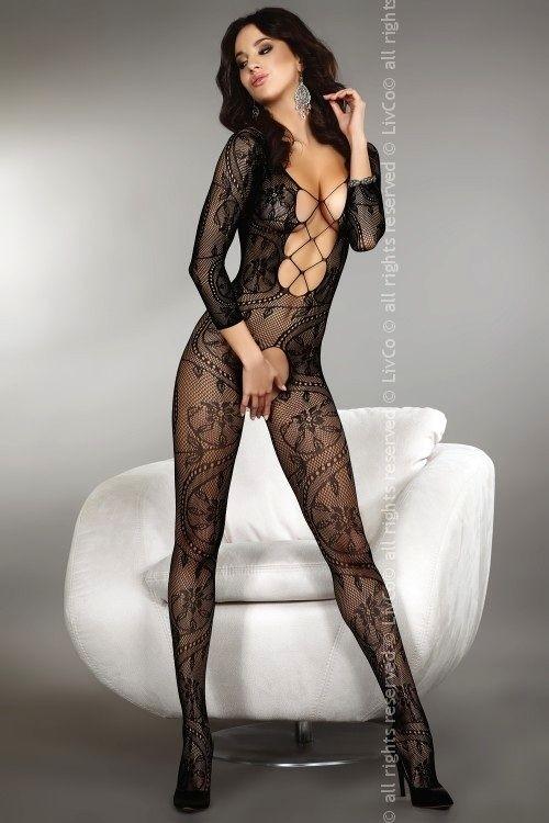 LivCo Corsetti Sexy bodystocking Zita black - černá - S/L