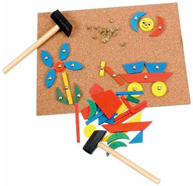 Woody Korková deska s natloukacími tvary 229 dílků