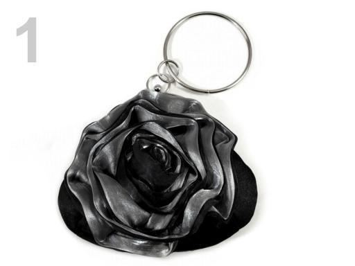 Stoklasa Slavnostní kabelka ROSE satén - 1 černá