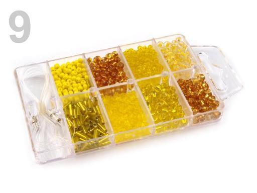 Stoklasa Skleněný rokajl v plastovém boxu - 9 Aspen Gold