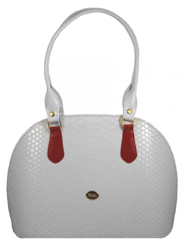 Bílá kroko kabelka na rameno S324 - dle obrázku