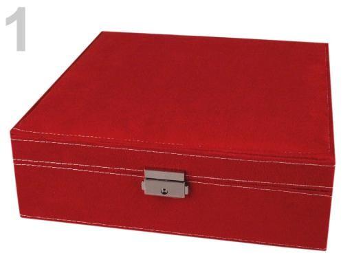Stoklasa Šperkovnice 2 patra 8,5x26x26cm - 1 červená jahoda