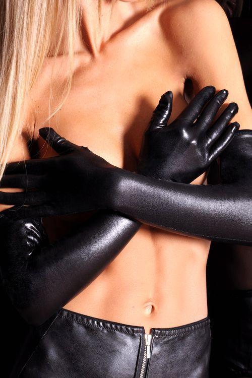 7-HEAVEN Erotické rukavičky A0214 - černá - L/XL