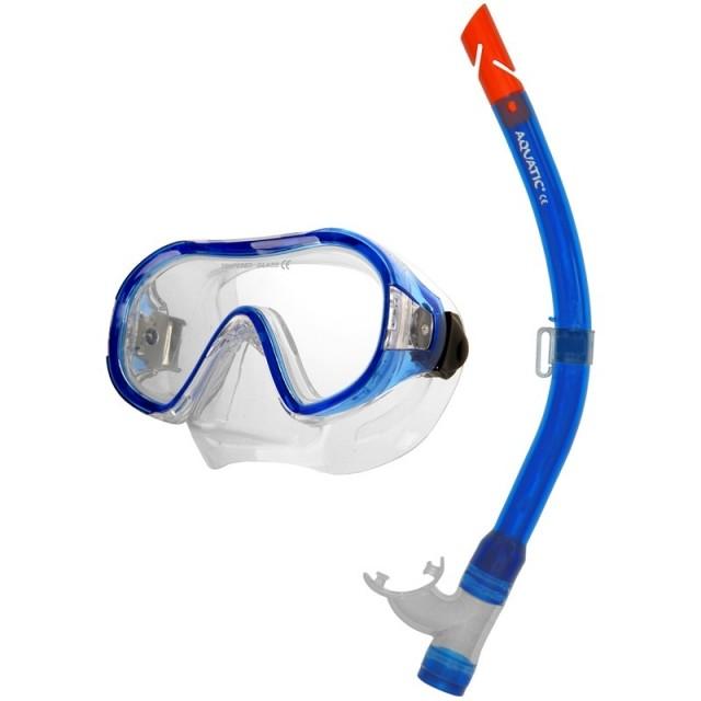 Aqua-Speed Junior Atol potápěčský set - modrá