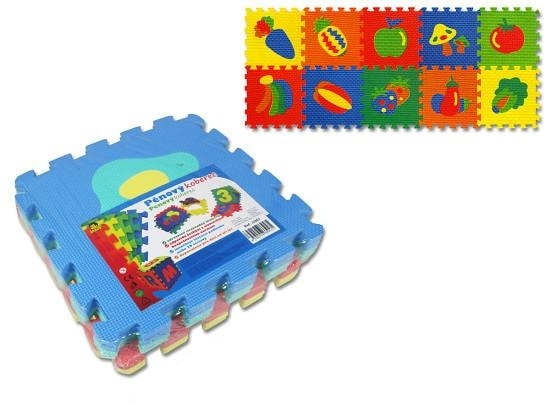 Koberec (pěnové puzzle) ovoce, zelenina 8 ks