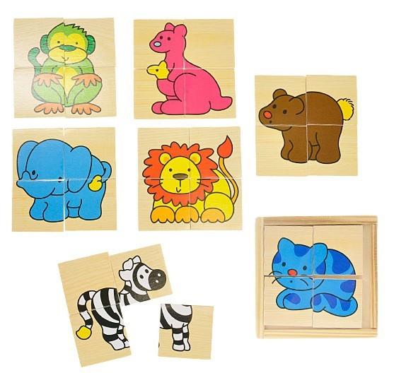 _Ostatní 1_ Puzzle dřevěné zvířátka
