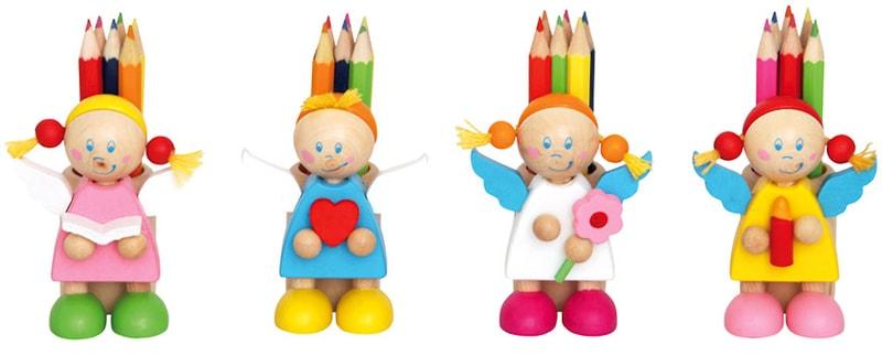 Bino DŘEVO Stojánek na tužky s pastelkami