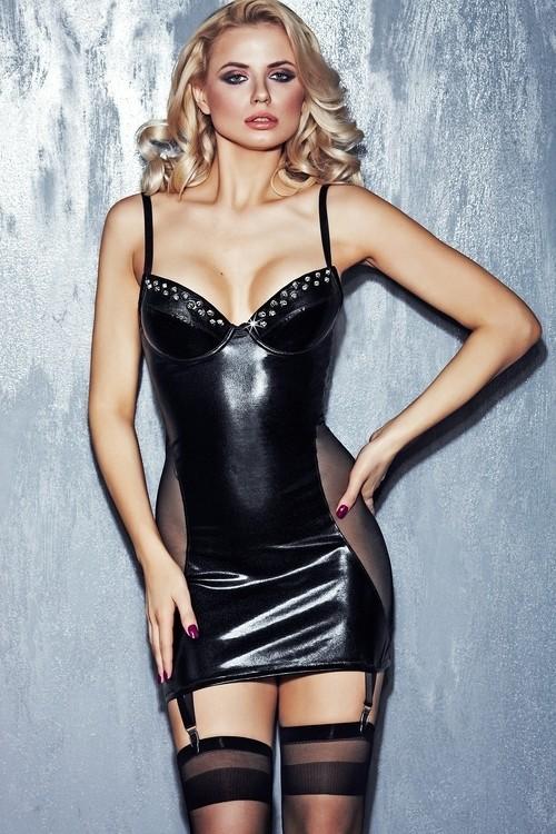 7-HEAVEN Erotické šaty Calabria - černá - S