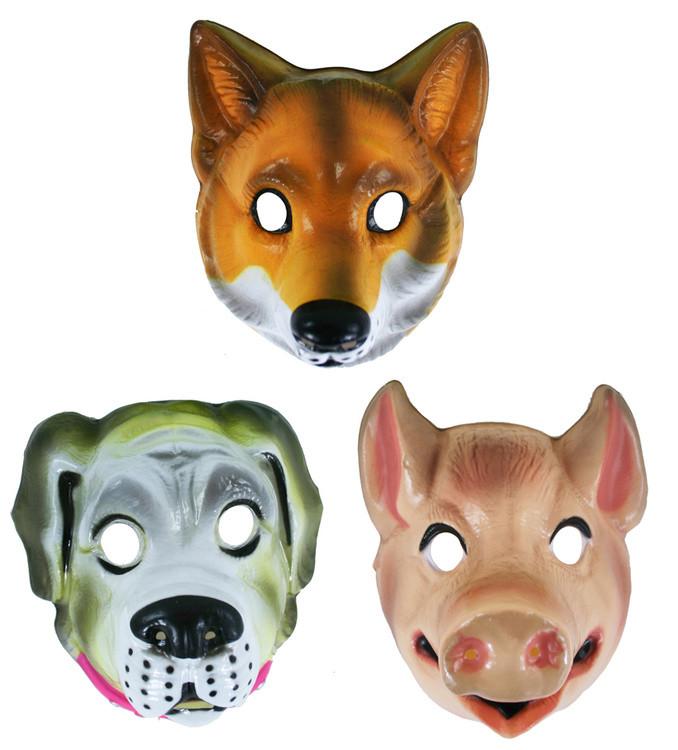 Rappa Maska plastová zvířátka real 3 druhy - šedá