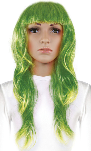 Rappa Paruka dlouhé vlasy, zelená