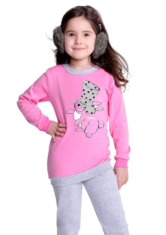 Taro Dětské pyžamo s obrázkem zajíce - 810/ šedá světlá - 128