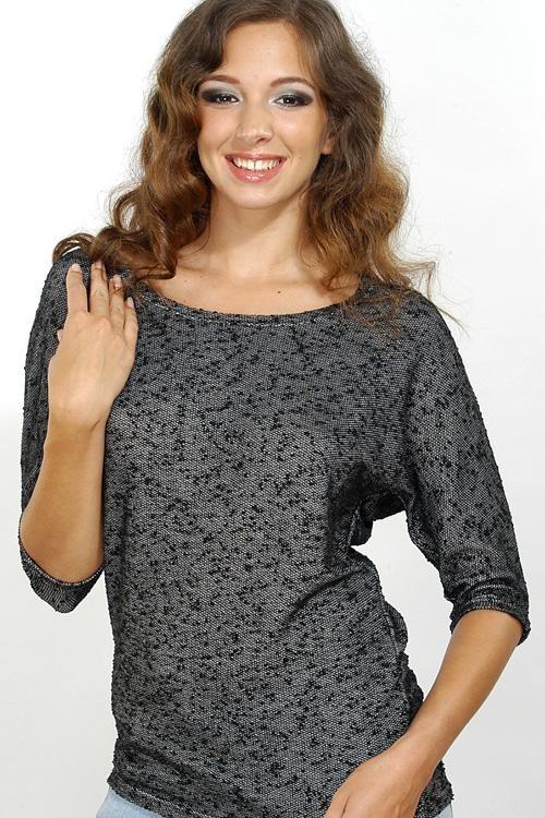Halenka Violana Luca black - 3 4 rukáv  cafb3d9cff