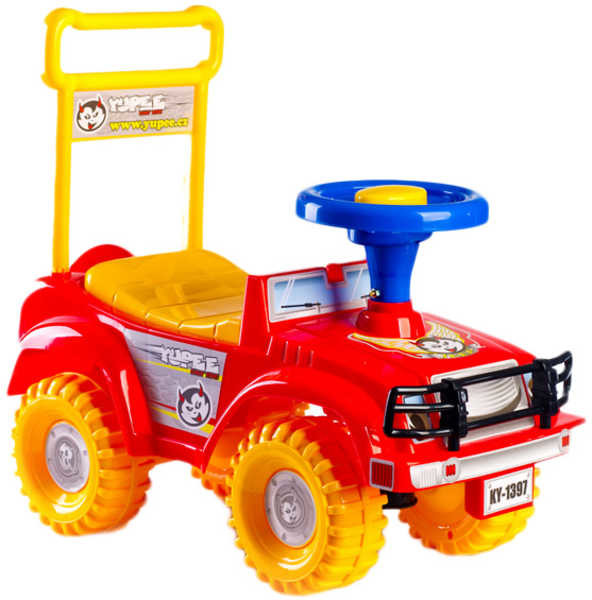 Mix hračky Odrážedlo / odstrkovadlo auto Hot jeep červené