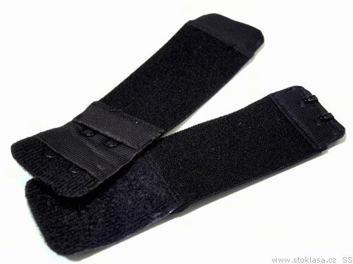 Stoklasa Prodloužení k podprsence šíře 30 mm 2 řady 2 očka - 1 černá