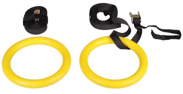 LiveUp Gymnastické kruhy průměr 23cm délka 5m - od 1 ks