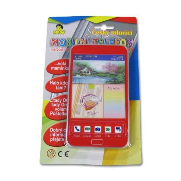 _Ostatní 1_ Mobil s 3D obrázky dotykový ČESKY MLUVÍCÍ telefon