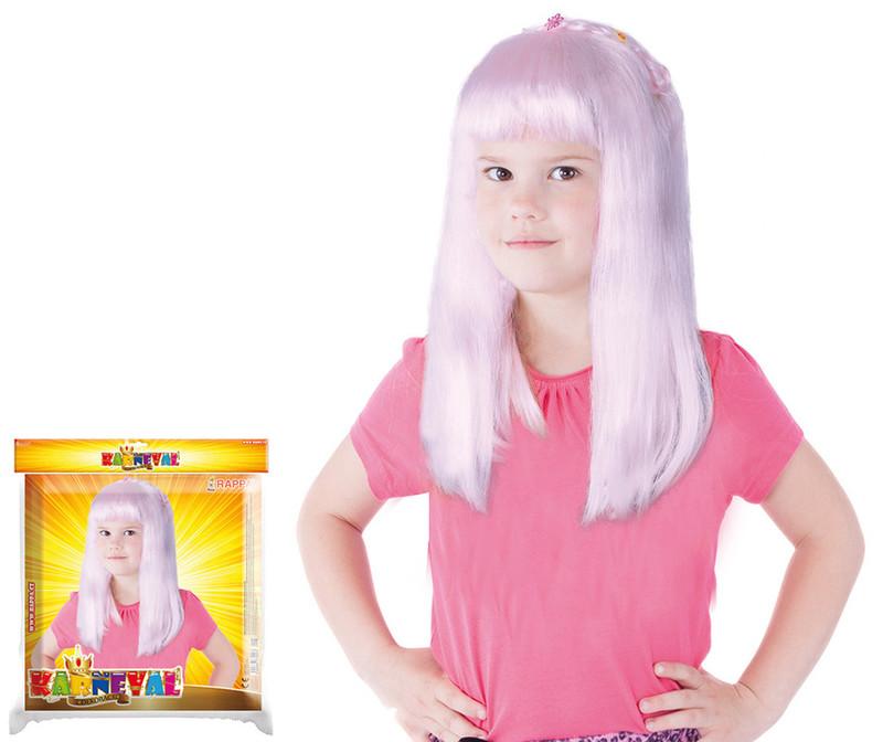 Rappa Paruka růžová dětská s ozdobou