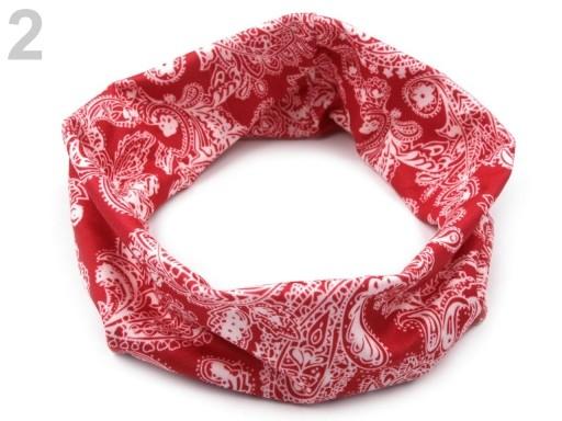Stoklasa Elastická čelenka do vlasů - 2 červená