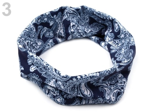Stoklasa Elastická čelenka do vlasů - 3 modrá pařížská