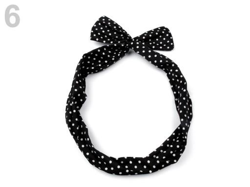 Stoklasa Látková čelenka s drátem - 6 černá