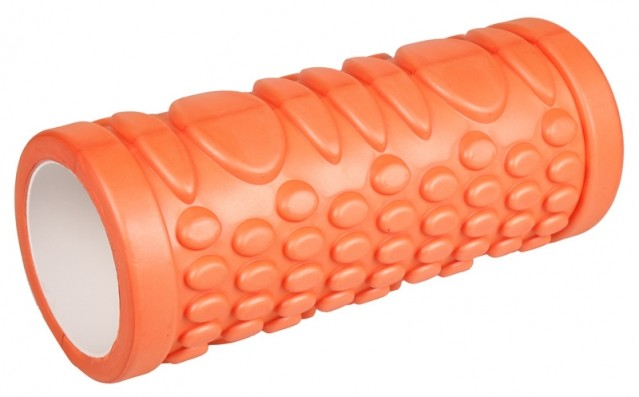 LiveUp Yoga Foam Roller váleček jóga 33x15cm - oranžová